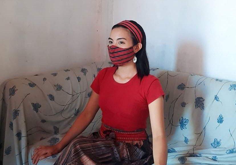 kalinga handwoven face mask